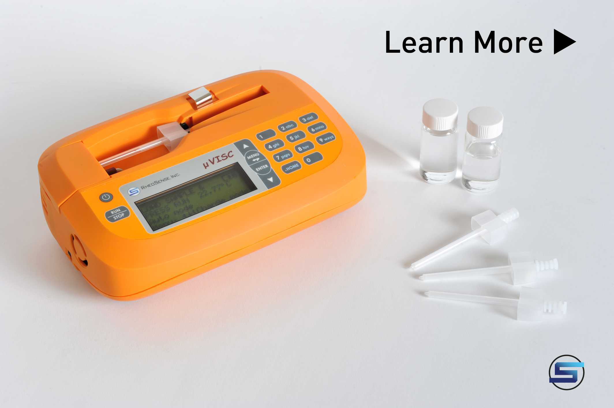 Portable, small sample viscometer microVISC