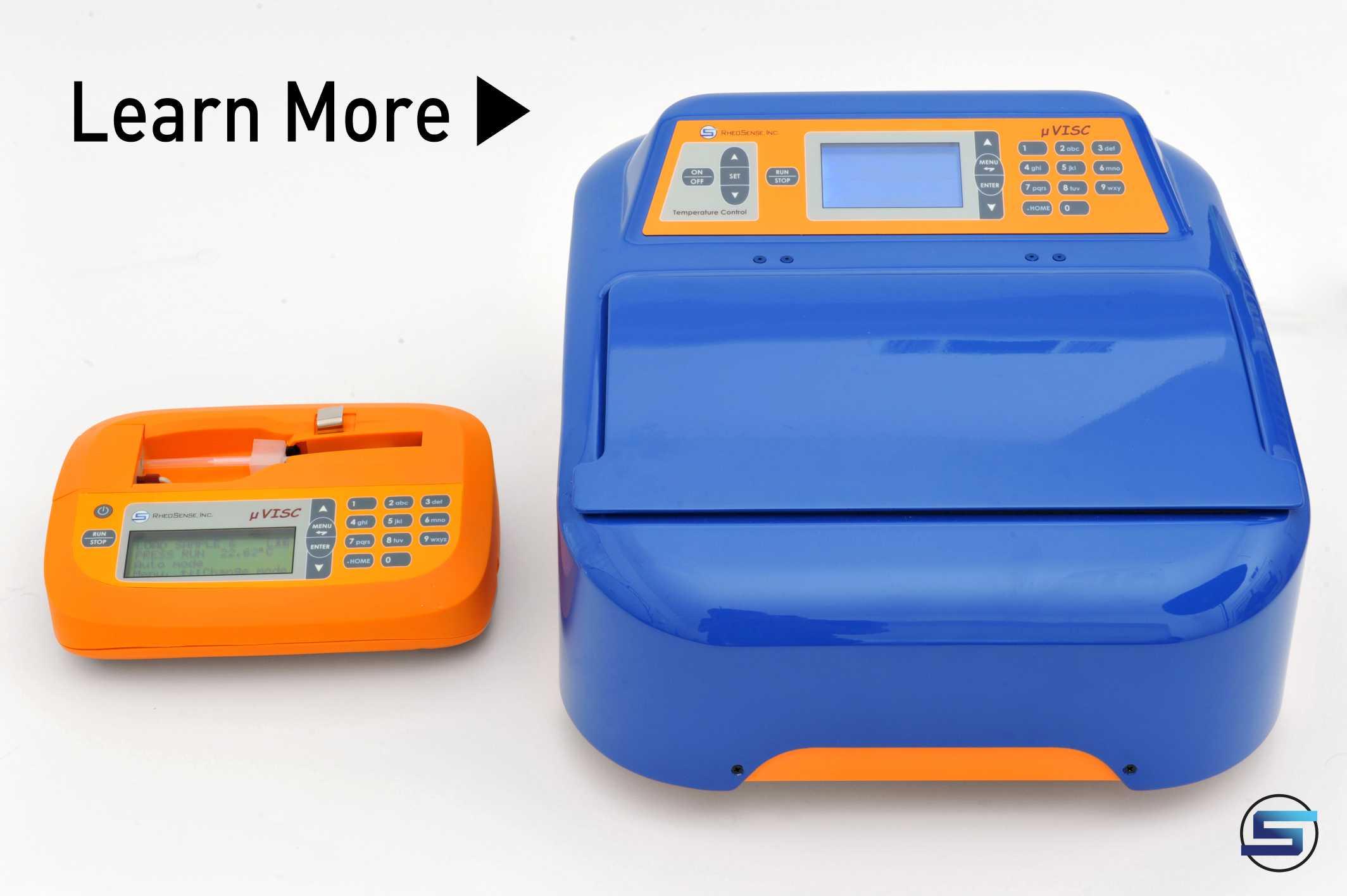 Portable, handheld small sample viscometer, microVISC