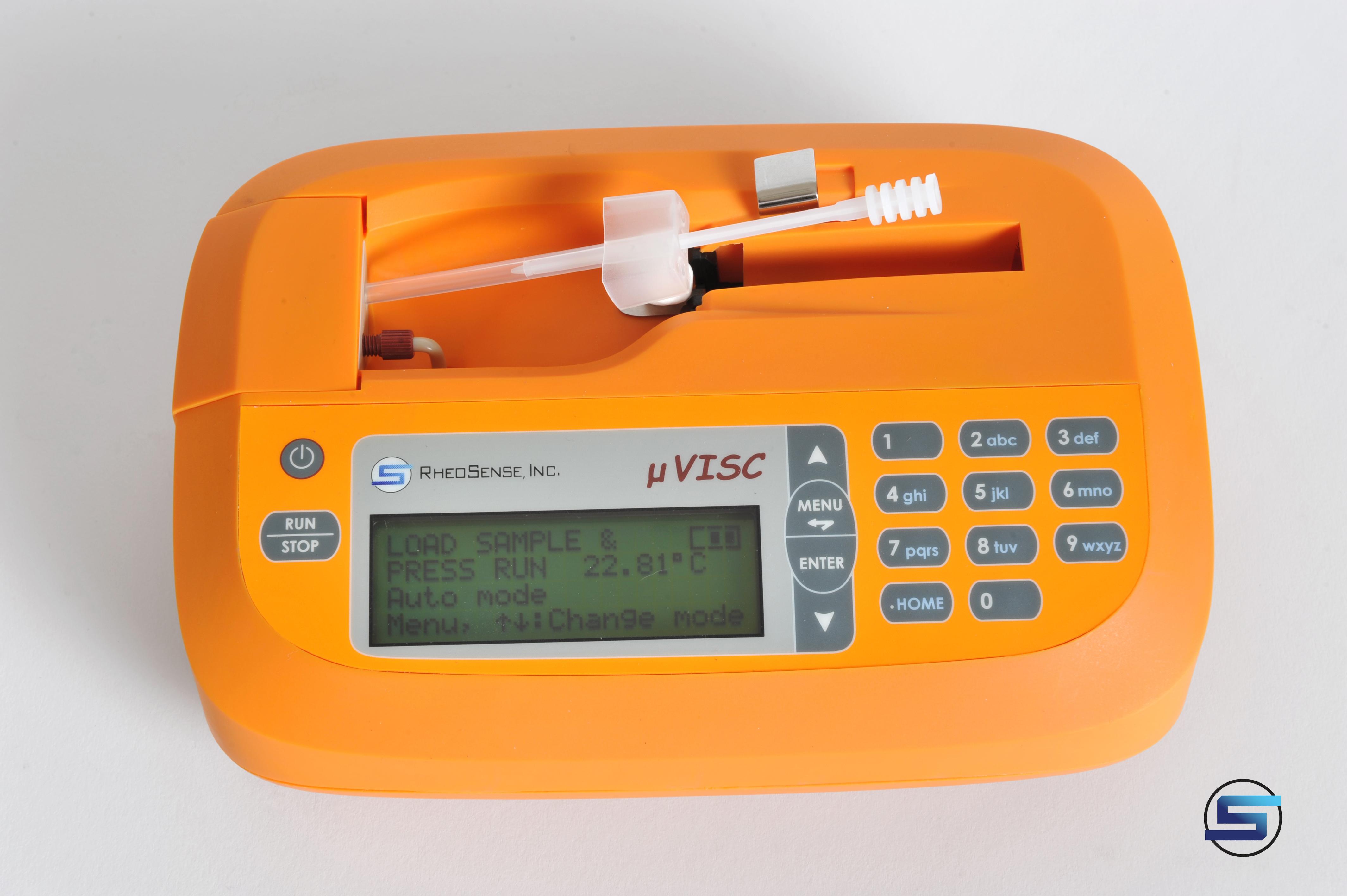 Portable, small sample viscometer