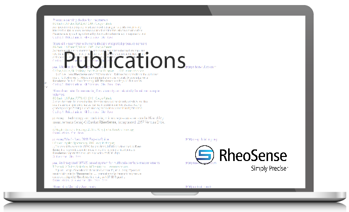 RheoSense Viscometers Mentioned in Publications