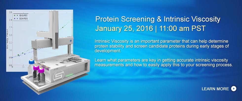 Protein Screening & Intrinsic Viscosity with VROC initium