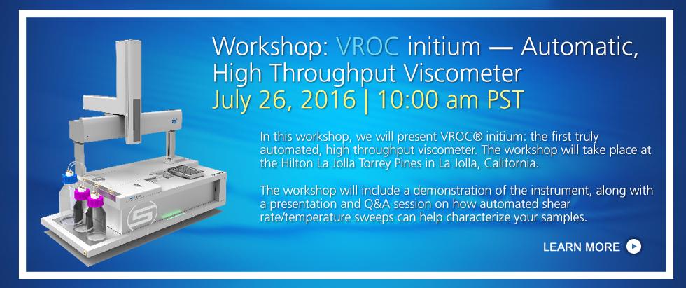 VROC initium, Automatic, High Throughput Viscometer