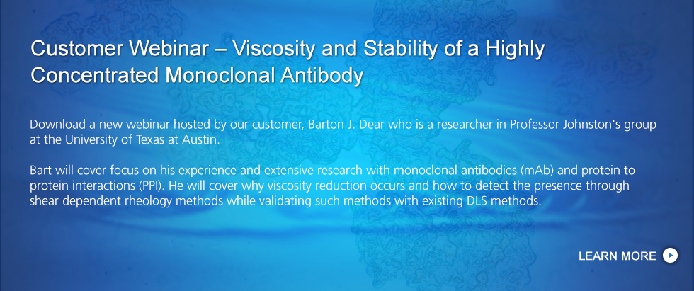 Viscosity & Stability of a Highly Concentrated Antibody