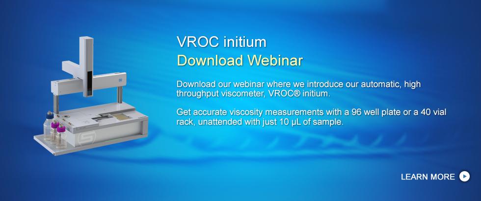 Automatic, High Throughput Viscometer, VROC initium