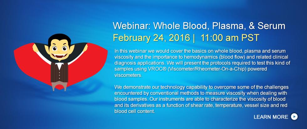 Whole Blood Webinar | February 24, 2016 11:00 am